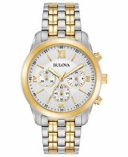 Bulova Men's 98A169 Quartz Chronograph Two-Tone Bracelet Dress 44mm Watch