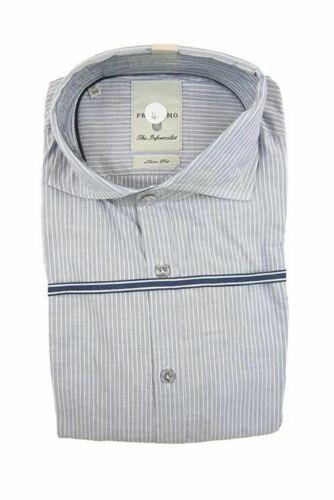 Profuomo long sleeve light grey shirt size 39ÊRRP80 G22
