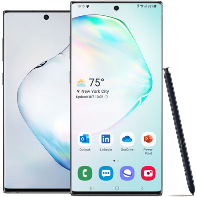 Samsung Galaxy Note10 Black 256GB US Model (Unlocked) w/Standard 1yr Factory War
