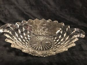 Vintage-Clear-Glass-Candy-Dish