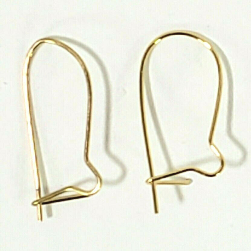 Different Colors Metal Safety Kidney Earring Wire Hooks Findings 21mm or 33mm