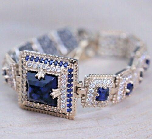925 Sterlingsilber Handmade Authentisch Türkische Sapphire Damen