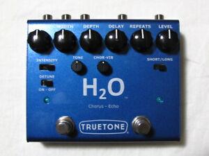 Enthousiaste Utilisé Truetone V3 H2o Chorus Echo Pédale D'effets Guitare! Visual Sound H20-afficher Le Titre D'origine Qualité Et Quantité AssuréE