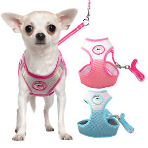 Step-in Safety Breathable Mesh Dog Harness with Leads for ...