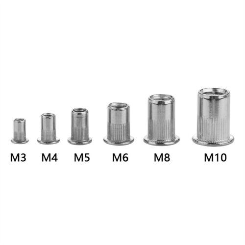 130 tlg Nietmutter Blindnietmuttern Einnietmuttern Edelstahl M3-M8 Sortiment Set