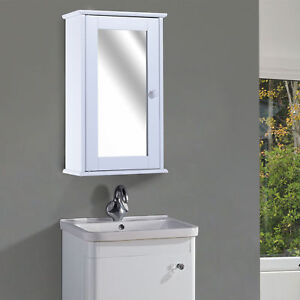 50cm Bathroom Wall Mounted Mirrored Cabinet Storage Medicine Cabinet