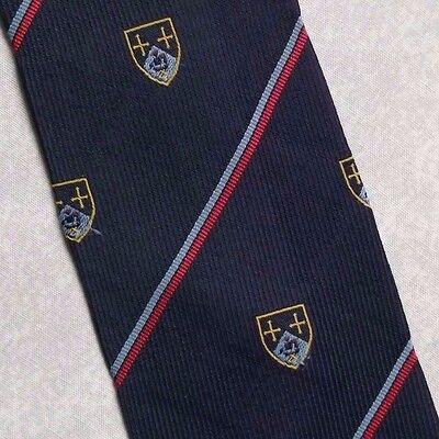 Forte Vintage Cravatta Da Uomo Cravatta Scudo Crested Club Associazione Società College-mostra Il Titolo Originale