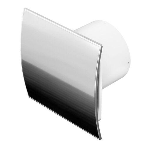 """Finition en acier inoxydable salle de bains hotte aspirante 100 MM 4/"""" Minuterie Capteur WEI100H"""