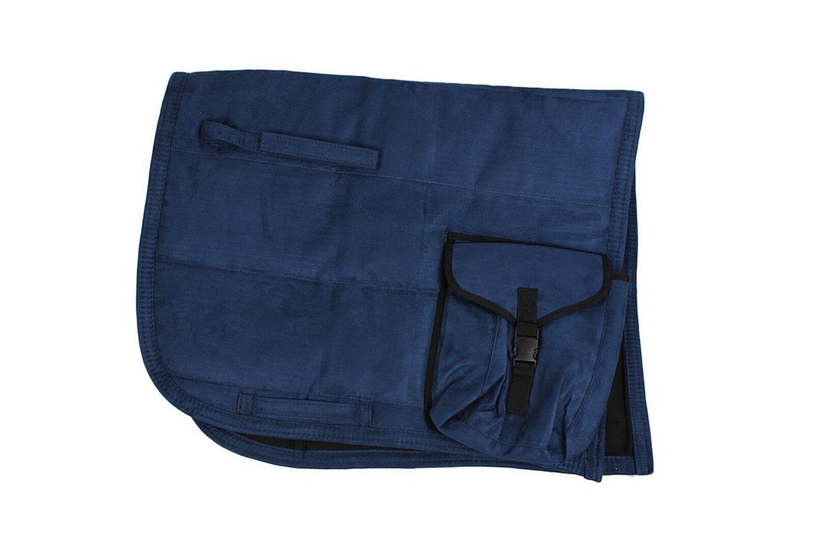 QHP Sattelpad Puff Puff Puff Pad mit Tasche Suedine absorbierende Unterseite viele Farben 837b99