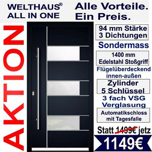 haust r welthaus wh94 premiumt r aluminium mit kunststoff la 330 t r eingangt r ebay. Black Bedroom Furniture Sets. Home Design Ideas