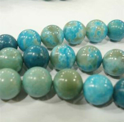 4mm Blue Crazy Lace Agate Round Gems Loose Beads 15""