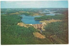 BALTIMORE-CO-MD-Liberty-Dam-Patapsco-River-Vtg-Postcard