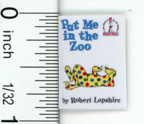 Dollhouse Miniature Well Known Children's Zoo Book by Cindi's Mini's