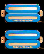 Guitar Pickups - GUITARHEADS MEGAMETAL HUMBUCKER - Bridge Neck SET 2 - BLUE