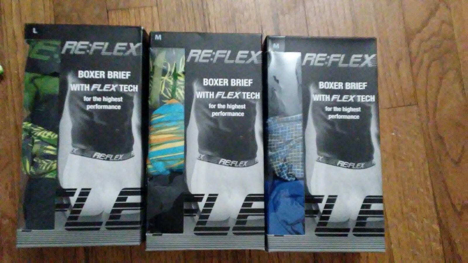 Reflex Boxer Briefs With Flex Tech For The Highest Performance M L XL