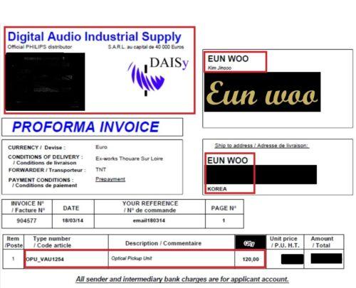 CD-PRO2, VAM1250 Philips CD Laser Pickup VAM1254
