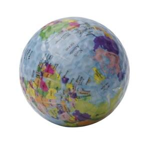 2018-Globe-Novelty-World-Map-Golf-Ball-Golf-Balls-Training-Indoor-Outdoor-K-M4C4