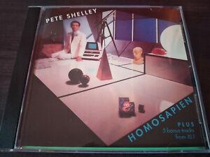 PETE SHELLEY - Homosapien CD +5 BonusTracks / New Wave / Synth Pop