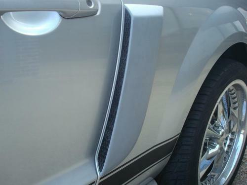 Fits 05-09 Ford Mustang Factory OE Style Side Scoops Primer Un-painted
