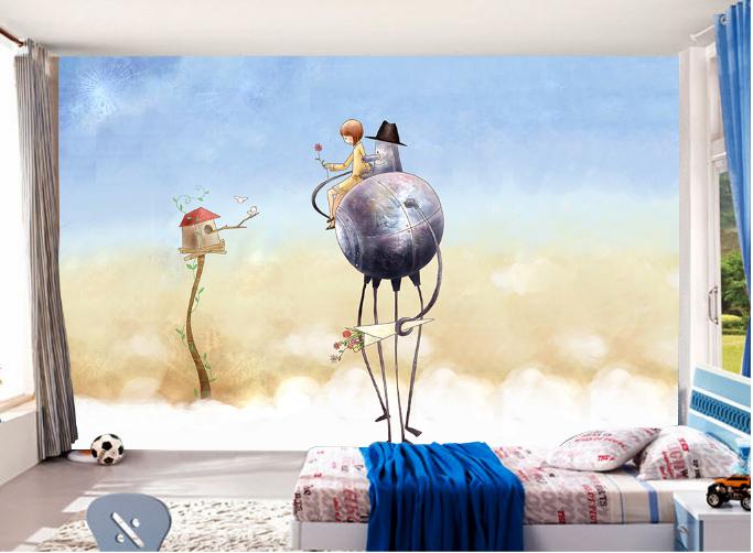 3D Bird Anime 578 Wallpaper Murals Wall Print Wallpaper Mural AJ WALL UK Summer