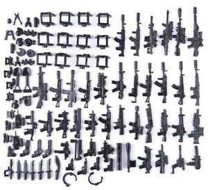 Custom-Swat-Guns-Weapons-Pack-For-Minifigures-Military-Police-For-Lego-Minifigs