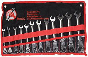 Kraftmann-30002-Juego-de-12-Llaves-Combinadas-de-Carraca-Articuladas-8-19-mm