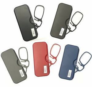 Mini-Pocket-Clip-On-Nose-Reading-Glasses-With-Plastic-Thin-Case-5-Color-1-0-2-5