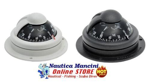 """NERA BUSSOLA MODELLO RIVIERA /""""COMET 1/"""" ACCESSORI NAUTICA BARCA GOMMONE GRIGIA"""