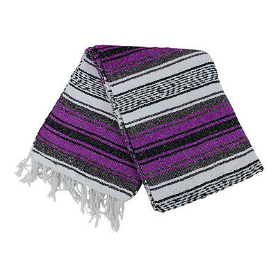 Mexican Falsa Blanket In Magenta And Grey Theme Throw Mat Yoga Rug New Genuine Ebay