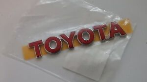 Toyota red Toyota badge - <span itemprop='availableAtOrFrom'>Torquay, United Kingdom</span> - Toyota red Toyota badge - Torquay, United Kingdom