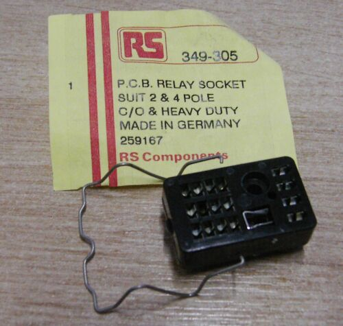 5 x zócalo de montaje de PCB para 2 y 4 polos Cuna relés 349-305 690-4274-SG Lumberg