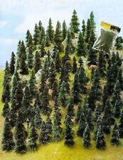 N / Z scale gauge Busch ONE HUNDRED (100)  PINE / FIR TREES 6599