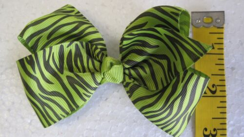 Wholesale 5 Dzs Girls Baby Toddler Zebra Hair Bow Hairbows Boutique CLOSEOUT