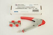 Pinze per connettori compressione BNC - RCA - F7 - IEC - F / ELBAC 999002-B0