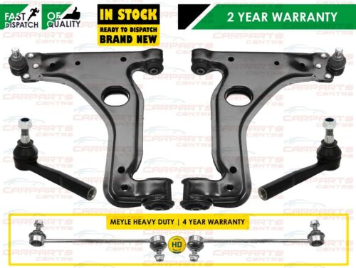 FOR VAUXHALL ZAFIRA A FRONT LOWER SUSPENSION ARMS TRACK ROD END MEYLE HD LINKS