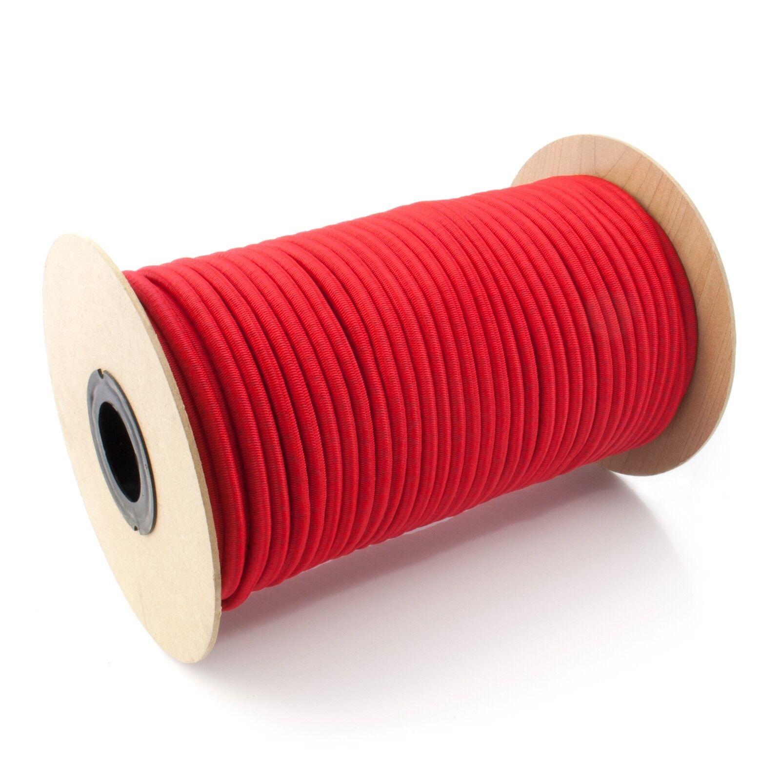 6mm GUMMISEIL 100m ROT Expanderseil Gummileine Expander Planenspanner Gummi