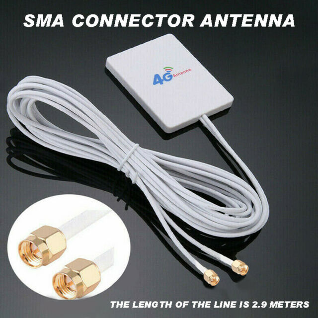 4G LTE Antenna Wire SMA Port Male Connector Booster Signal Amplifier High Gain