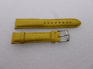 Genuine-Michele-18mm-Yellow-Genuine-Leather-Watch-Band-Strap-Pre-owned