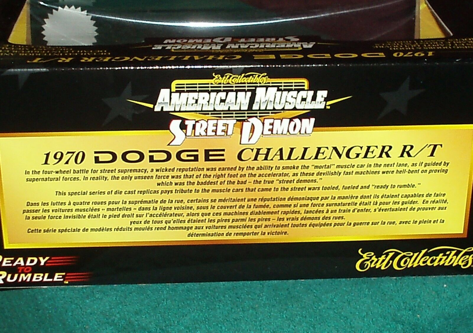 ERTL 1970 DODGE CHALLENGER R T COUPE COUPE COUPE 1 18  STREET DEMON  2003 RELEASE b4bf44