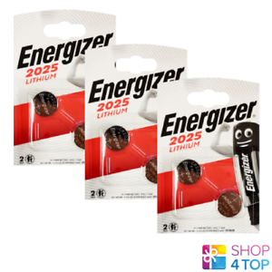 6 ENERGIZER CR2025 LITHIUM BATTERIES BLISTER 3V COIN CELL DL2025 EXP 2024 NEW