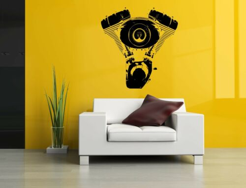 Wall Decor Art Vinyl Sticker Mural Decal Motorcycle Bike Engine Motor Ride SA713