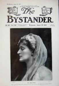 Old-Antique-Print-1905-Portrait-Photograph-Miss-Beryl-Faber-Woman-Theatre-20th