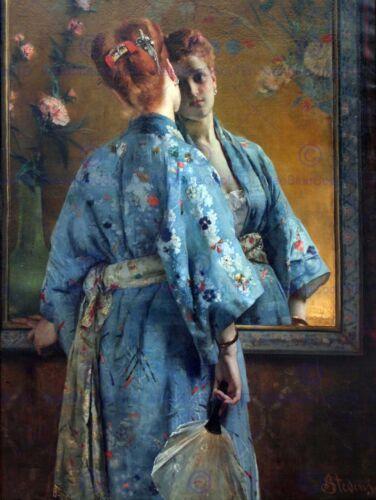 ALFRED STEVENS LA PARISIENNE JAPONAISE OLD ART PAINTING PRINT POSTER ART 104OM
