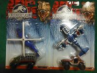 (2) Matchbox Jurassic World Land And Air Vehicle Collection 2-packs