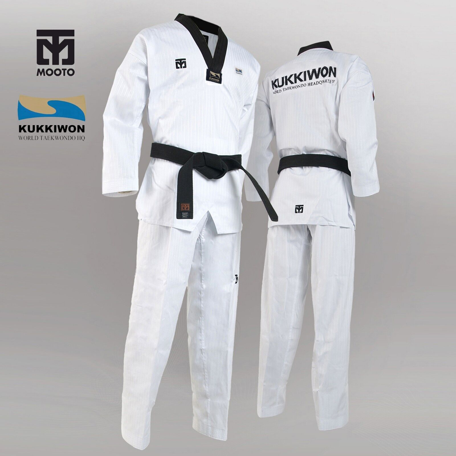 Original Official Mooto Kukkiwon Taekwondo Dobok Uniform Gi TKD KTA Approved New