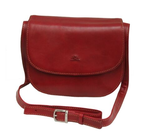 Ladies Leather Handbag Shoulder Bag Tony Perotti Italian Leather Red TP-8117G