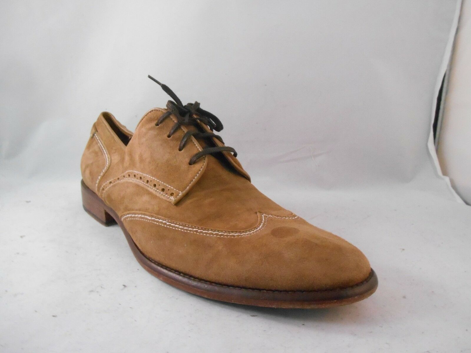 Johnston and Murphy Morrell Brown Leather Wingtip Loafers Sz 12 M Made in