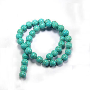 New-Blue-Turquoise-Gemstone-Round-Loose-Bead-Beads-Strand-6mm-8mm-10mm-12mm
