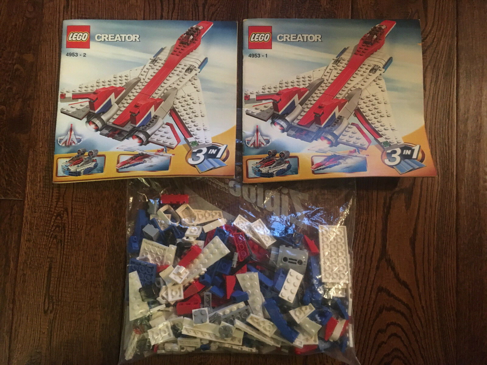 Lego 4953, Creator set - Fast Flyers, complete with instructions, box included