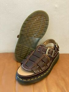 Dr Doc Martens Arc 8092 Fisherman Brown Leather Sandals Men Size 9/Women Size 10